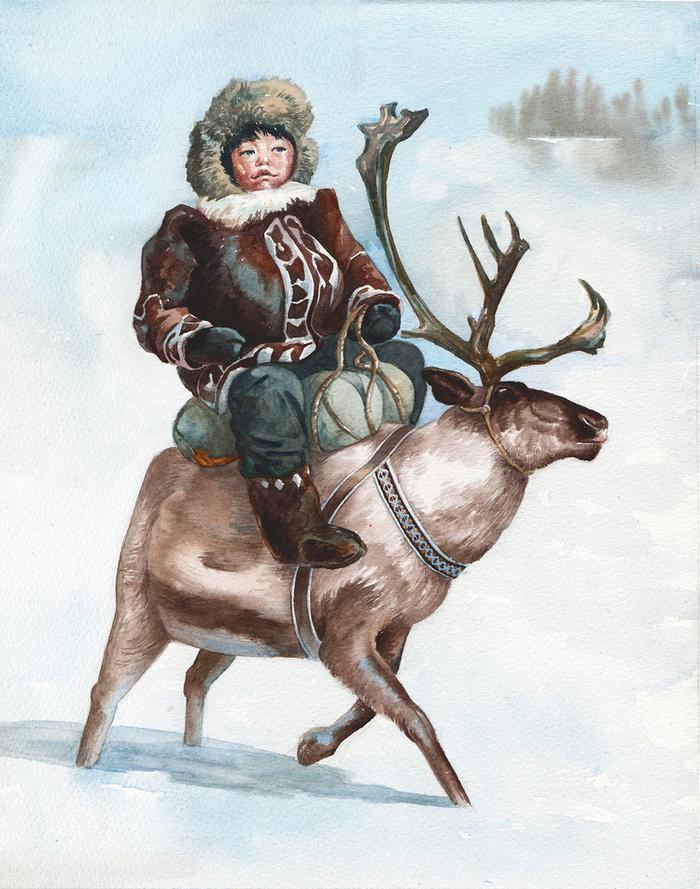 Утро, праздник народов севера открытки
