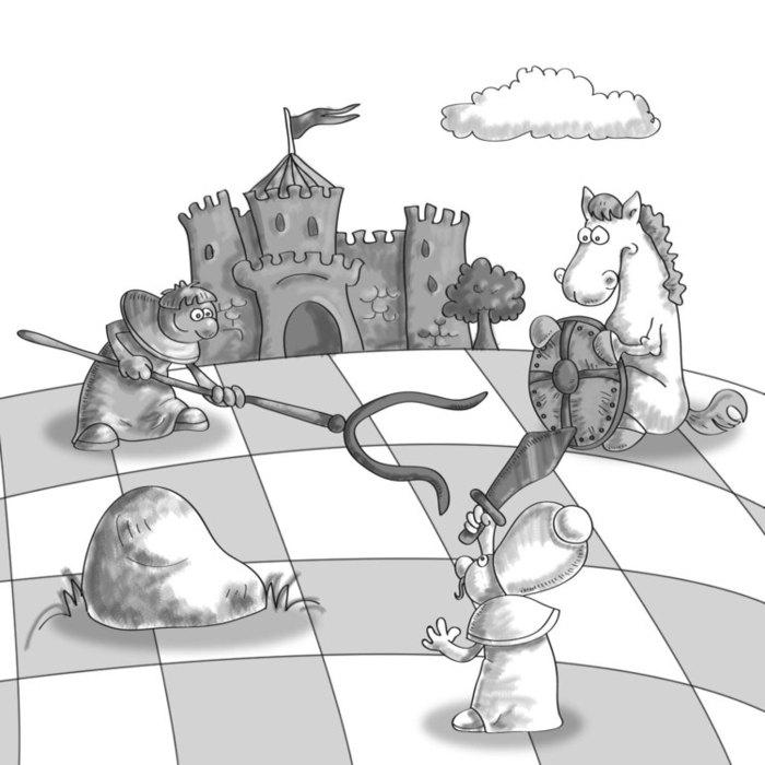 Рисунок на тему шахматы ребенку в школу