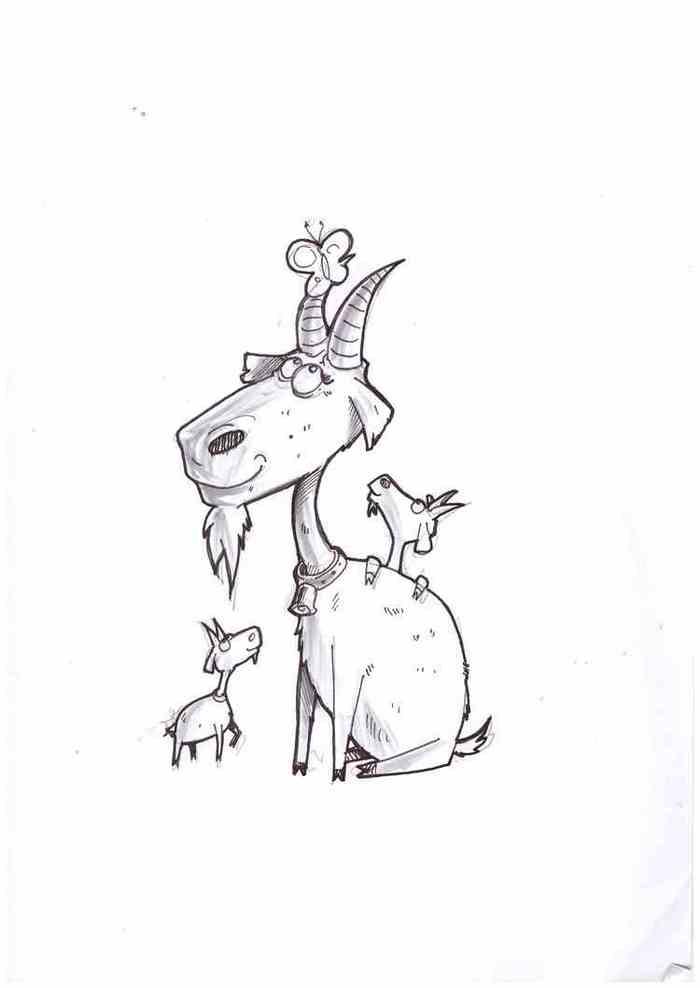 Рисунок прикольных коз внимание