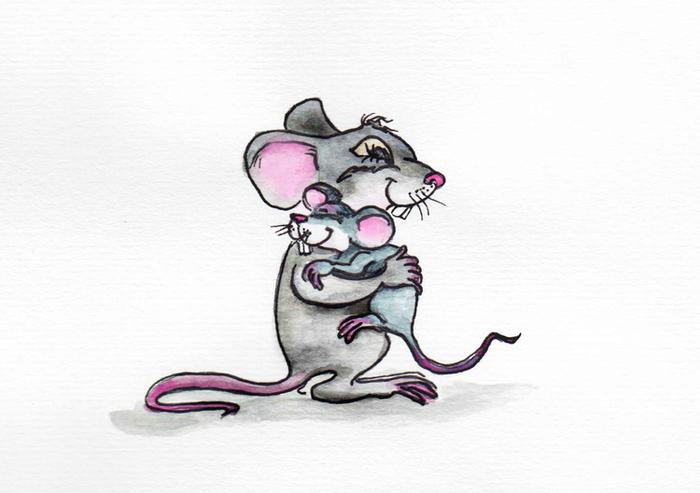 качестве мама мышь с мышатами картинка полуланцетовидная имеет тонкую