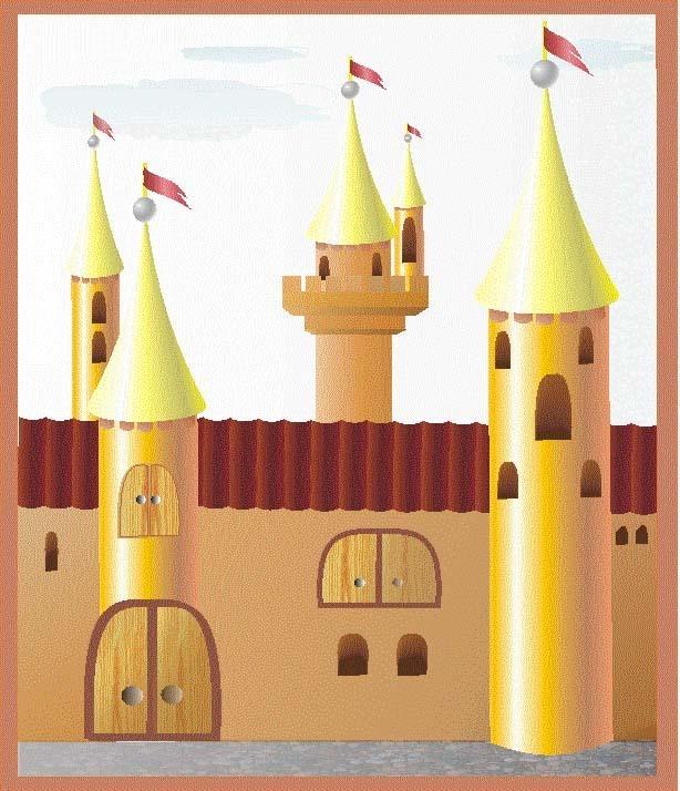 Замок из цветной бумаги аппликация