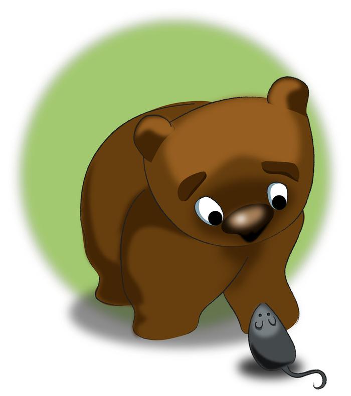 Картинки мышки и медведя