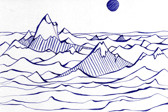 Рисовать горы в иллюстраторе