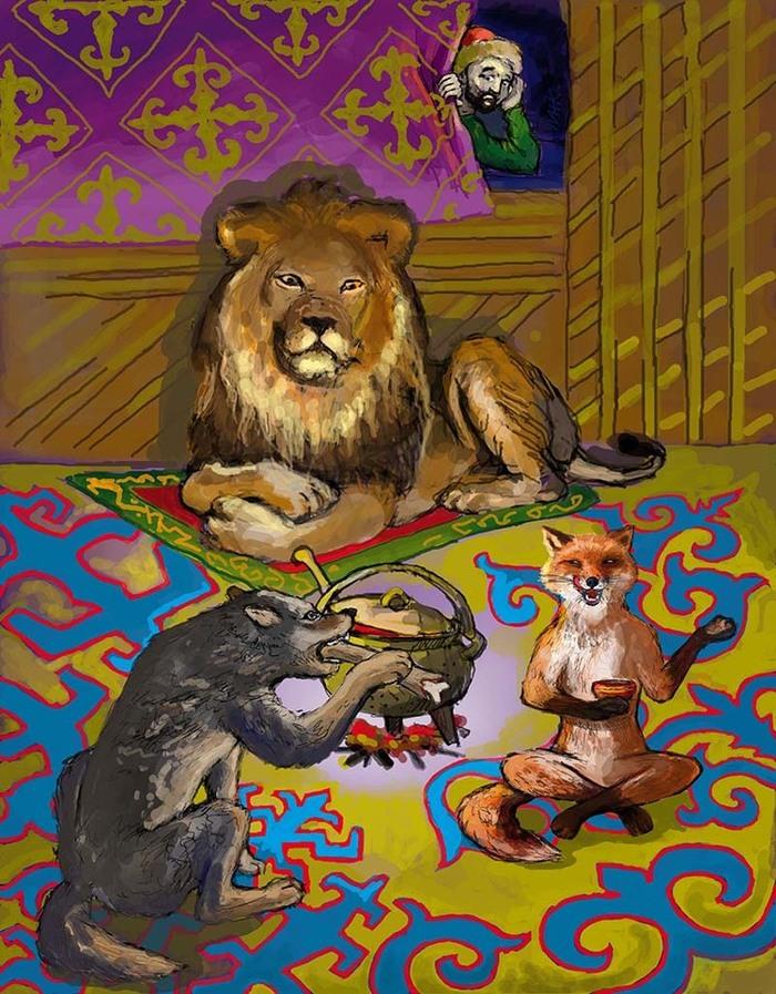 иллюстрации к казахской сказке добрый и злой можете скачать