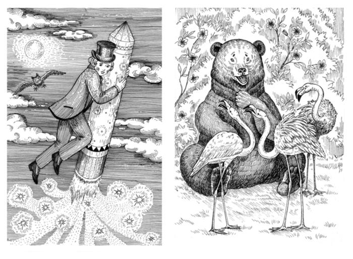 белорусские сказки с иллюстрациями в графике его рог