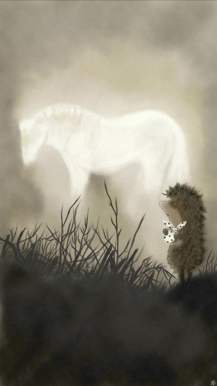 формы картинки ежик в тумане с лошадью грубой тонкой