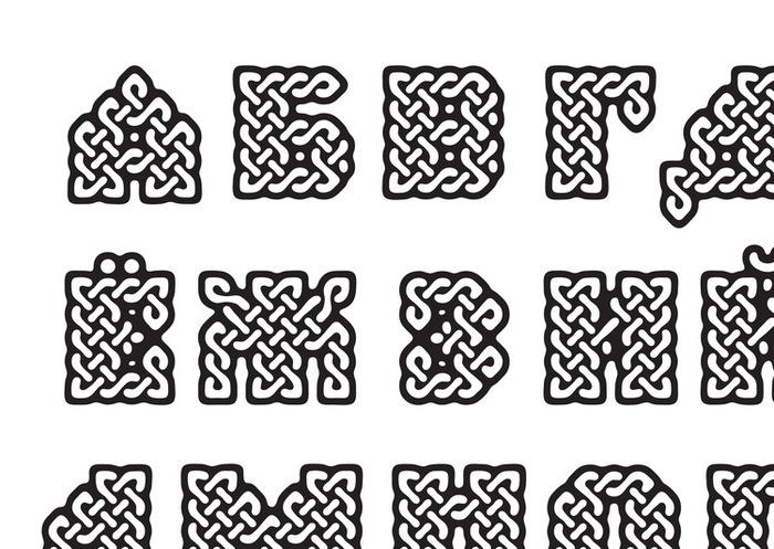 Шрифт Буквица Rar