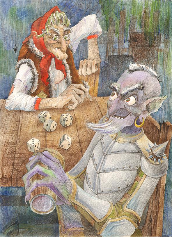 Картинка с кощеем из русских сказок, картинка поздравление