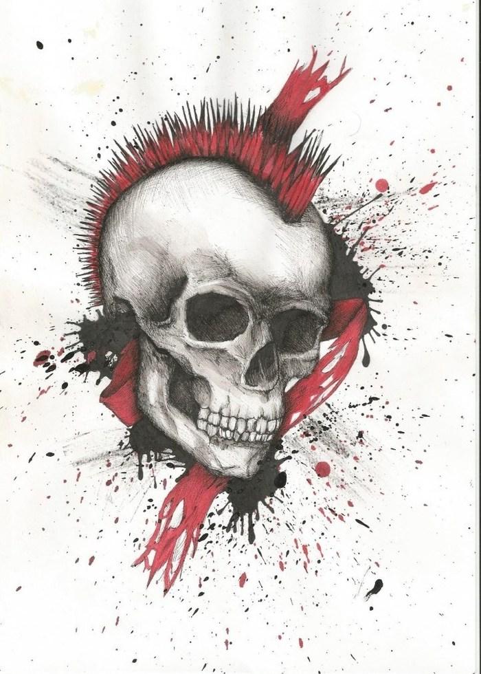 Картинки полька треш череп