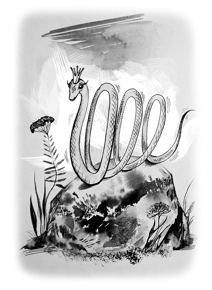 Картинки сказки бажова голубая змейка, надписью