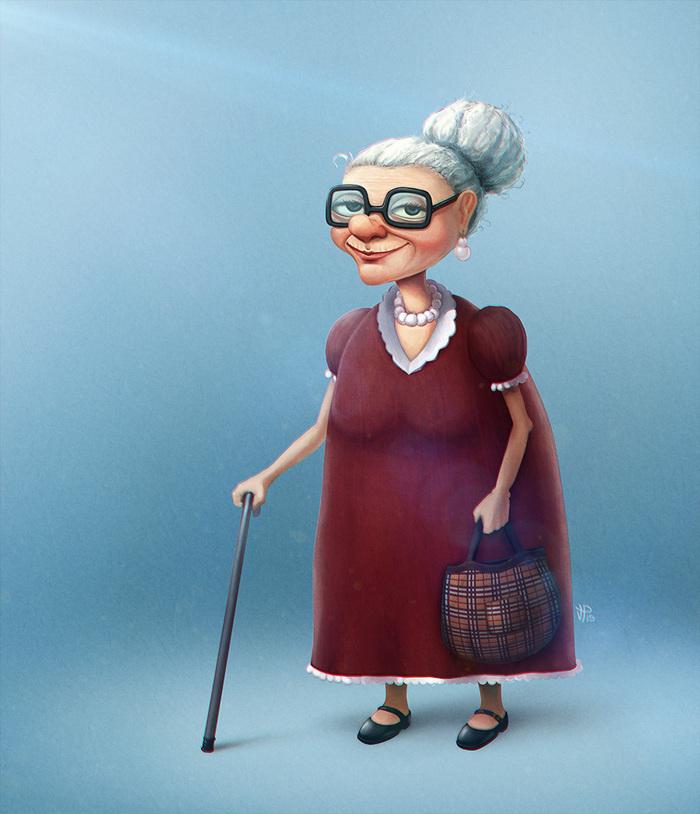 Стикерами, бабушка прикольные рисованные картинки