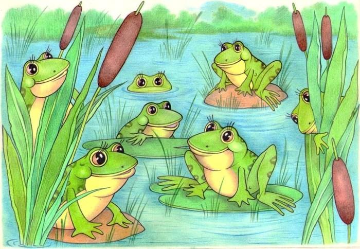 Картинки лягушка на болоте для детей