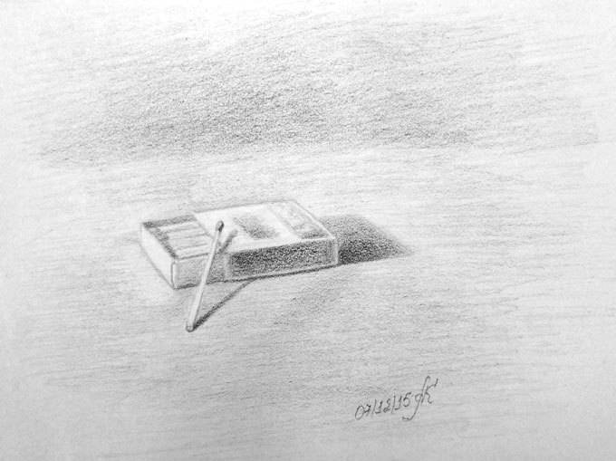 Рисунок спичечного коробка