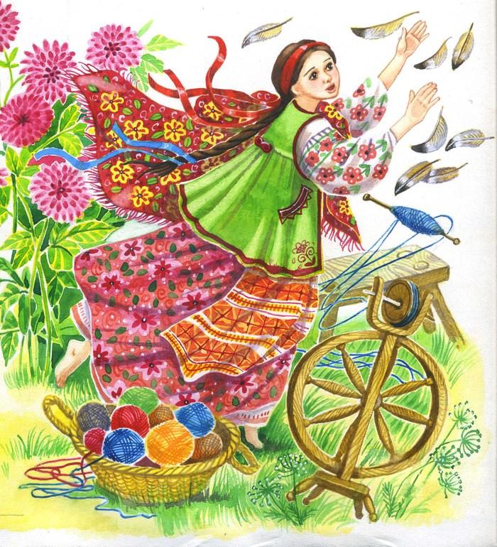 В картинках украинская сказка