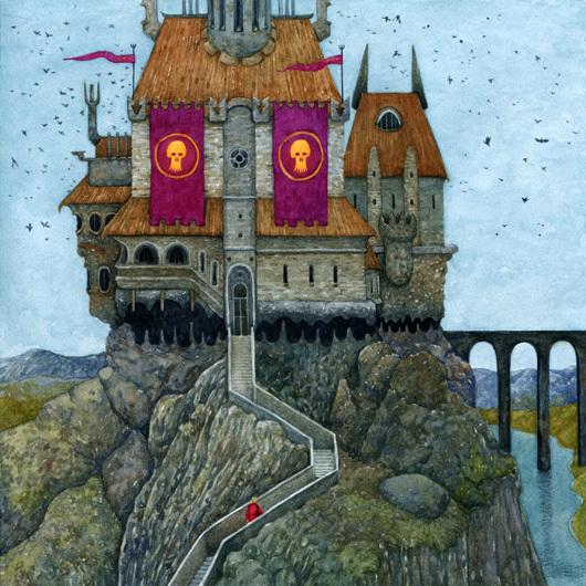 Замок кощея рисунки