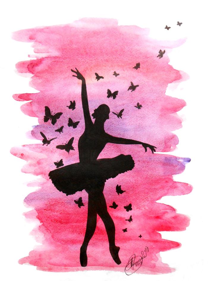картинки на которых нарисована балерина краской сушилки