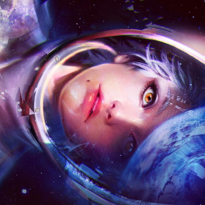 Картинка девочки в космосе
