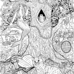 раскраски у лукоморья дуб зеленый картинки