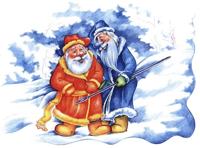 Два мороза сказка раскраска