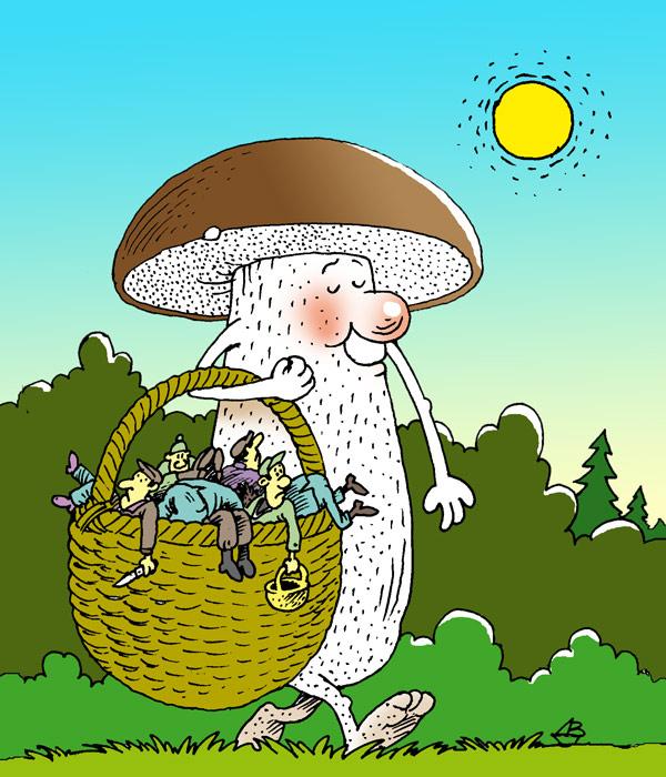 Марта старшей, смешные рисунки грибов