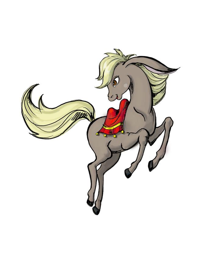 цветные картинки конька горбунка дракон