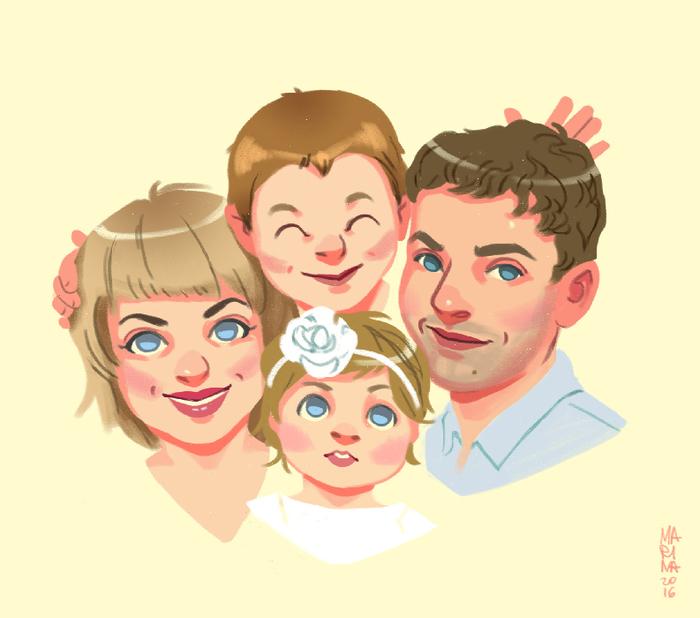 Семья стилизованные картинки