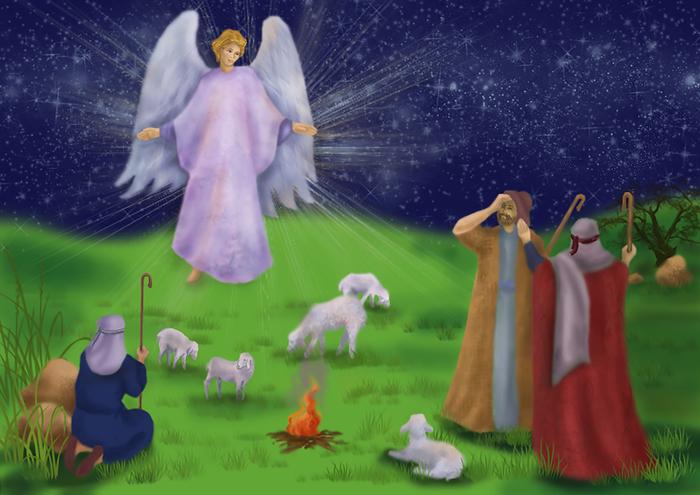 Ангел и пастухи картинки
