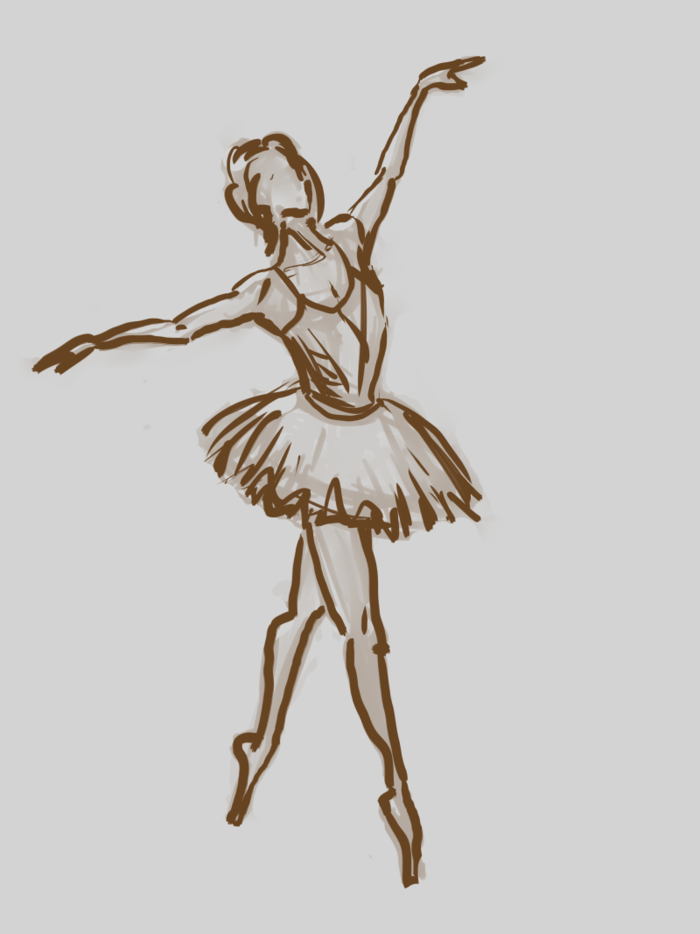 графические картинки балерин доска грубой