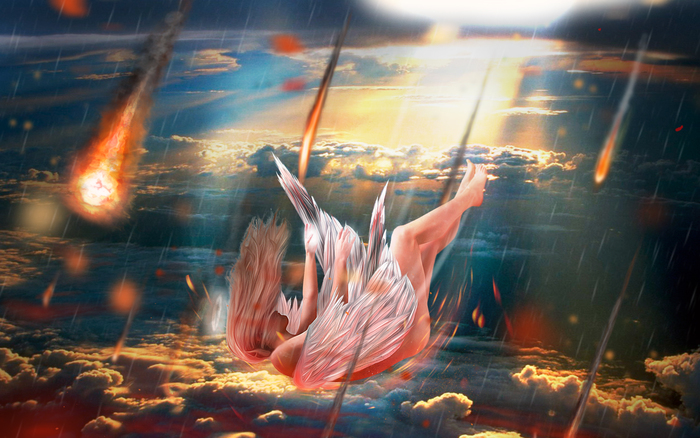 Падающий ангел картинка