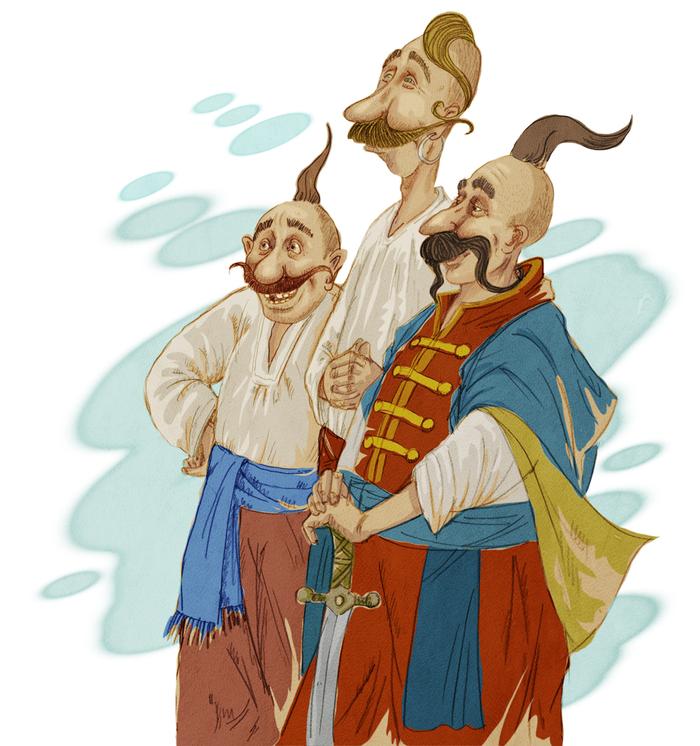 Стоит, смешные картинки про казаков и казачек
