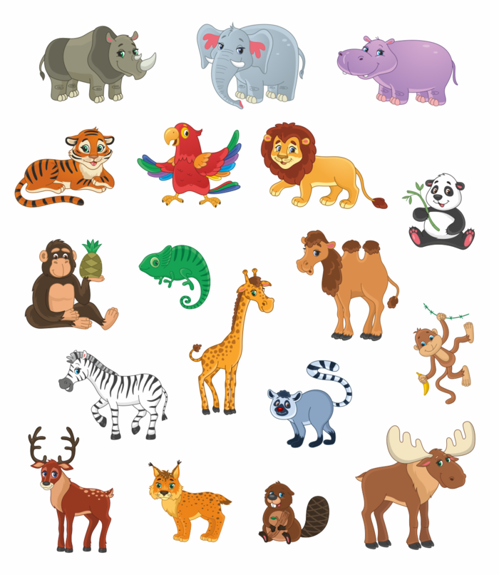 плакаты с картинками животных ребят, которые