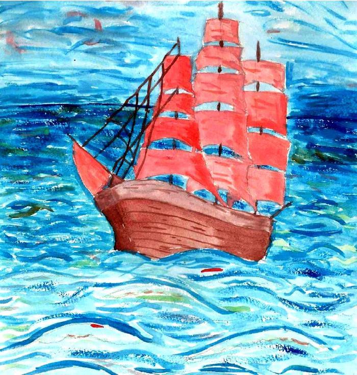 Картинки к произведению алые паруса карандашом