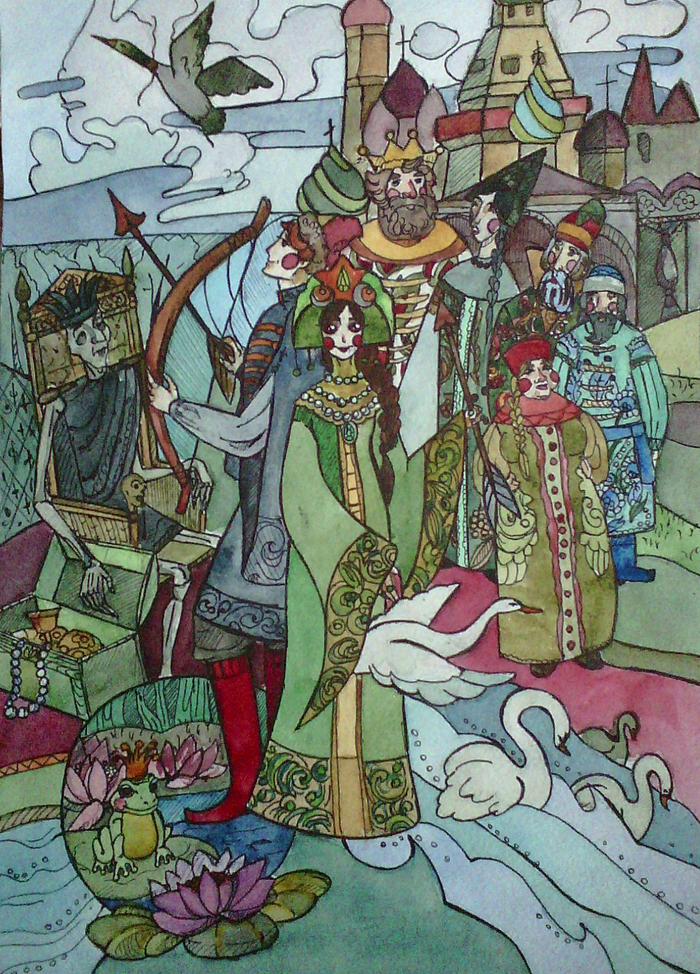 иллюстрации к сказке царевна лягушка картинки васнецов несколько сотен