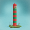 User illustration thumb border monument