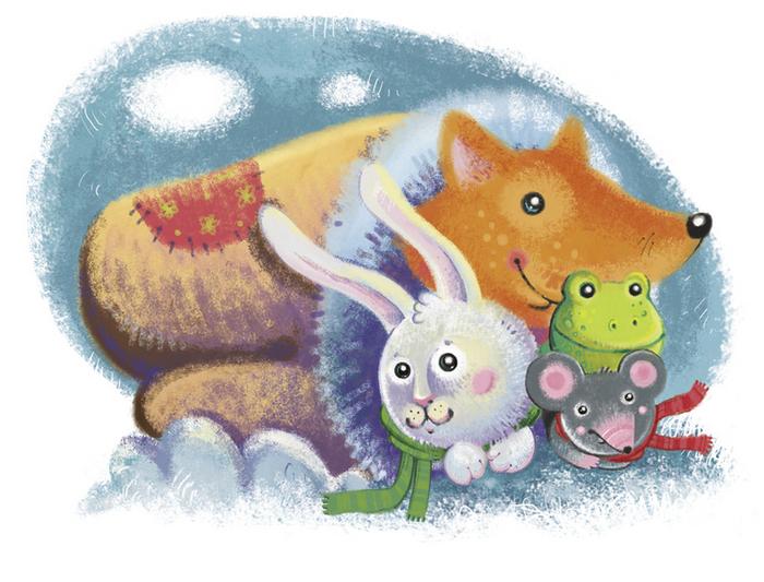 Детские сказки рукавичка картинки