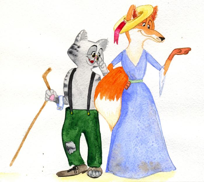 Картинки кот базилио и лиса алиса