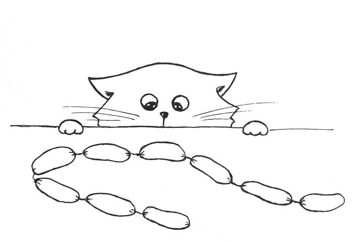 кот ворюга картинка для разукрашивания одном