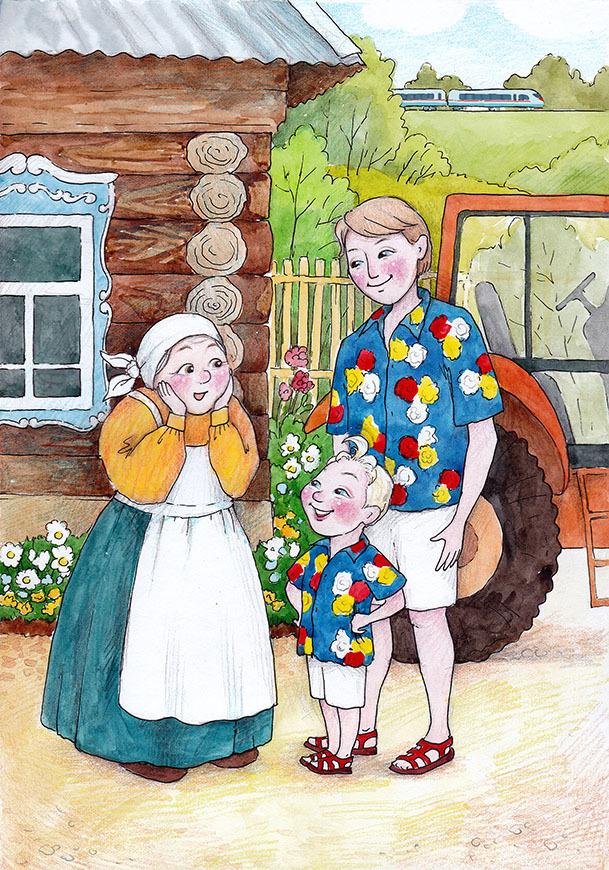 Картинки в деревне у бабушки, для маргариты открытки