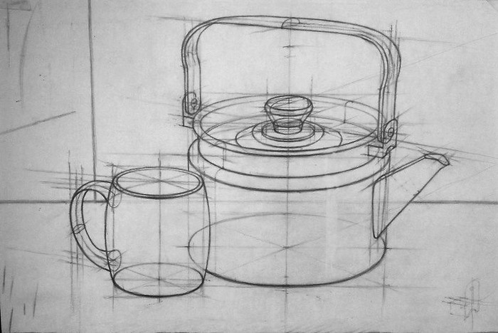 Построение рисунка чайника