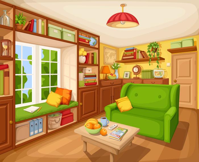 Картинки для детей гостиная внутри