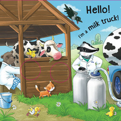 Who helps on the farm. Milk Truck
