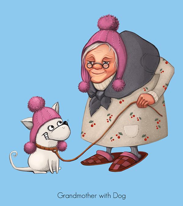 Смешные рисунки с бабушками, днем