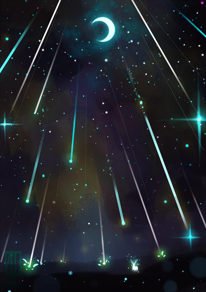 Картинки и рисунки звездопада
