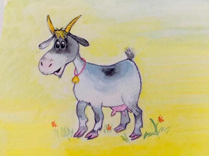 Картинки про козу для детей, марта своими руками