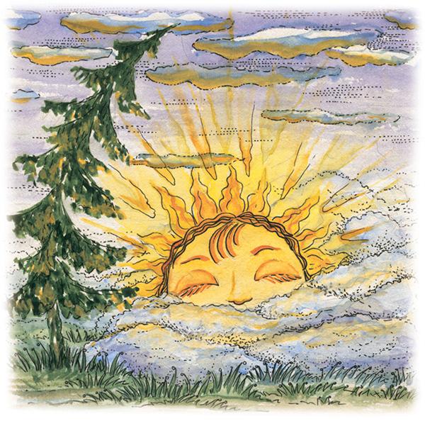 Картинка спящее солнышко
