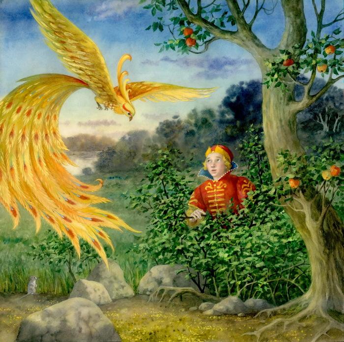 Картинка из сказки жар птица для детей