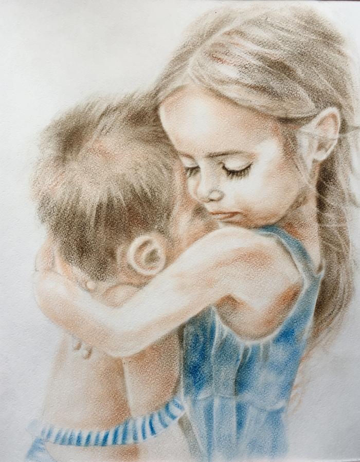 картинки для брата от сестры нарисовать всем пожелать