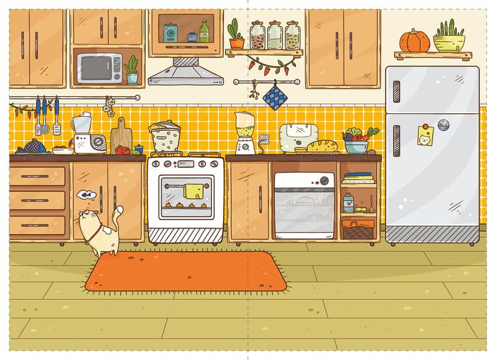 Кухня в картинках для детей, картинки езды велосипеде