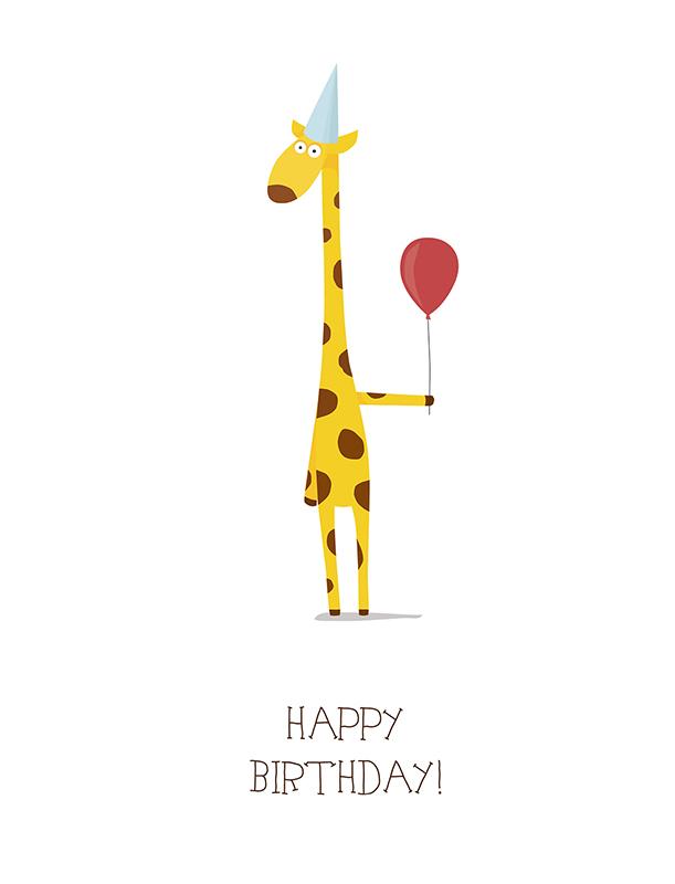 милые поздравление с жирафам на день рождения стен потолка белый