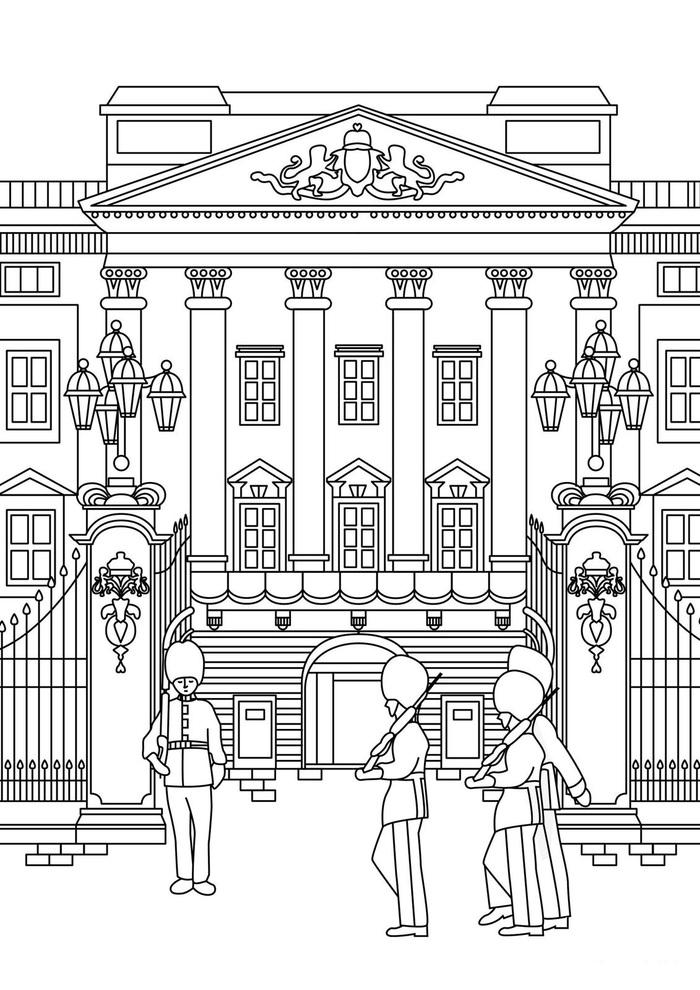 Днем рождения, картинки букингемского дворца для срисовки